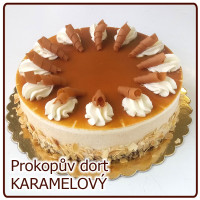 dort KARAMELOVÝ s bílou čokoládou