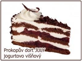 dort JULY jogurtový s višněmi