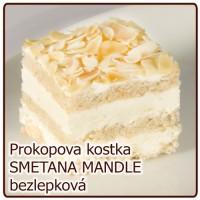 kostka SMETANOVO MANDLOVÁ bezlepková