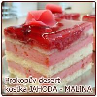 kostka JAHODOVÁ MALINOVÁ fresh