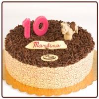 dort desertní s čokoládovým lemem